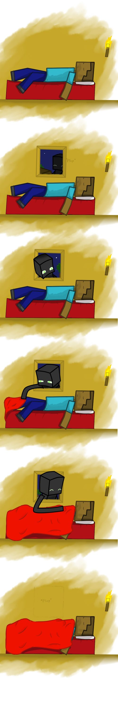 Who said Enderman are bad? #minecraft #enderman Idk why I thought this was so cute