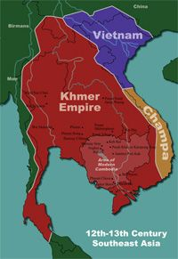 The Khmer Empire was influenced by India and it helped shape the empire. The people of this empire adapted the indian culture and lifestyles.