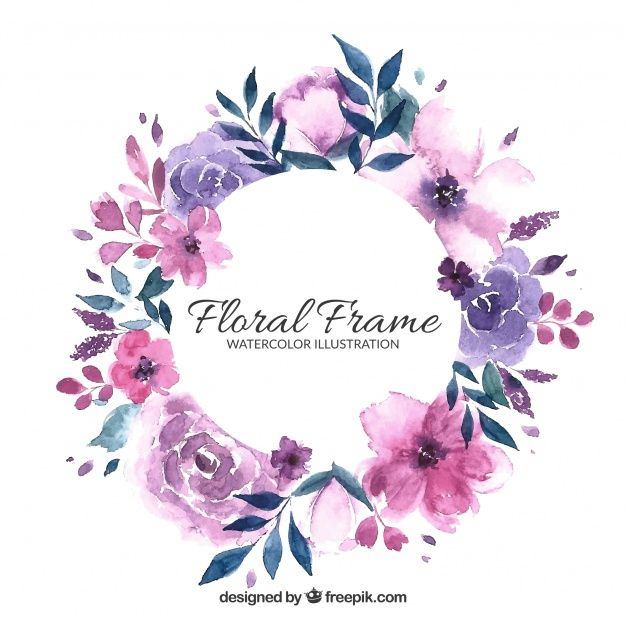 Download Floral Frame In Watercolor Style For Free Free