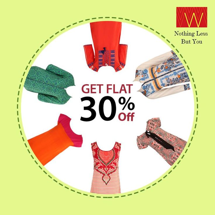 Awesome #discounts on mesmerizing #Wcollection. Are you ready to #shop till you drop? Flat 30% off. Explore more here : www.shopforw.com