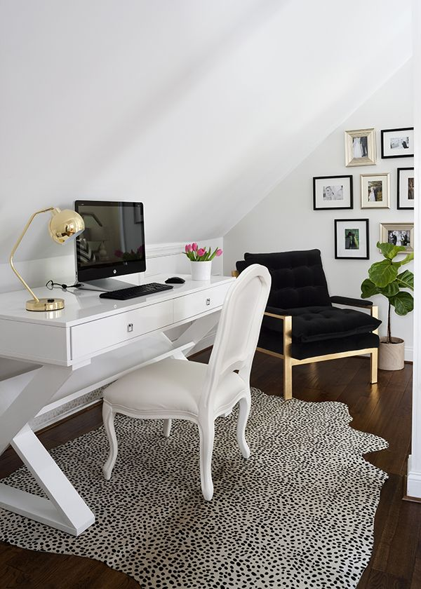 A Luxe Home Makeover By JWS Interiors via @glitterguide features our chic Jett Desk.