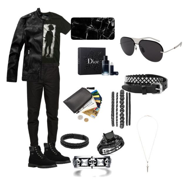 """Untitled #435"" by brunarafaelamalik on Polyvore featuring Hot Topic, Maison Margiela, Lugz, Vitaly, Roman Paul, Christian Dior, Rust Mood, Harper & Blake, men's fashion and menswear"