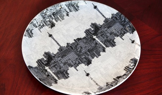 The City of Gold on a plate. Johannesburg skyline platter by 1886 I Boutique Joburg.