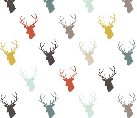 Modern Deer fabric by mrshervi on Spoonflower - custom fabric