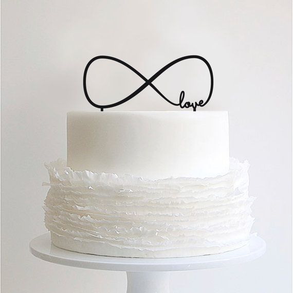 Infinate Love Laser Cut Cake Topper by CloverNZ on Etsy