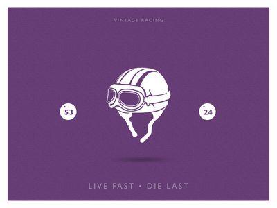 Vintage Helmet Racing