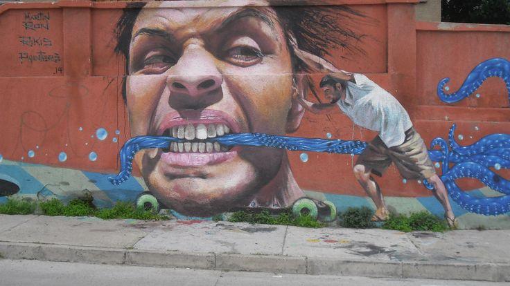Mural en la Avenida Alemania en Valparaíso