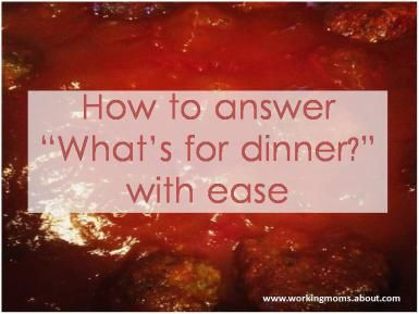 The repetitious question what is for dinner can be answered by following these organizational tips..  Meal planning for working moms - Liz McGrory