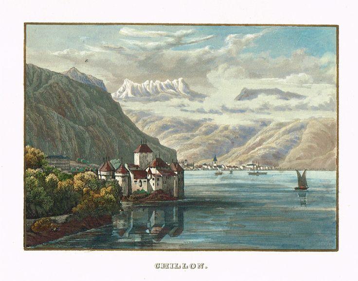 Chillon - gravure imprimée en couleurs - XIXe - MAS Estampes Anciennes - MAS Antique Prints