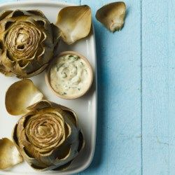Steamed Artichokes with Herb Aioli - EatingWell.com