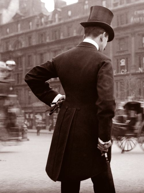 London, 1904, man, male, handsome, gentleman, hat, vintage, building, city view, photograph, oldie, history, male fashion, photo, sapira
