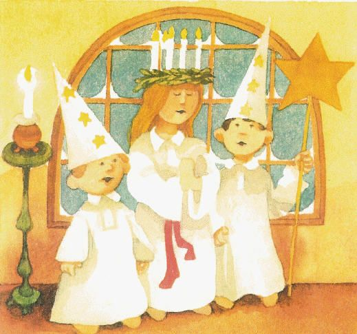Great Round-up of Ideas for Celebrating St. Lucia Day! Includes books, songs, stories, recipes and crafts