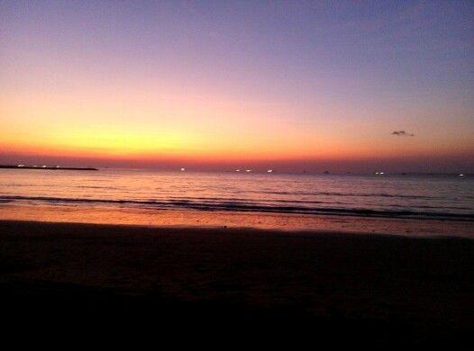 Senja, pantai lasiana, Kupang