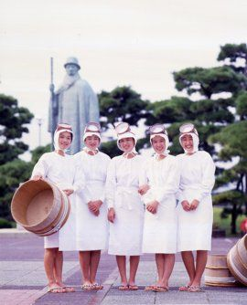 Female divers at Mikimoto Pearl Museum, Mie, Japan ミキモト真珠島