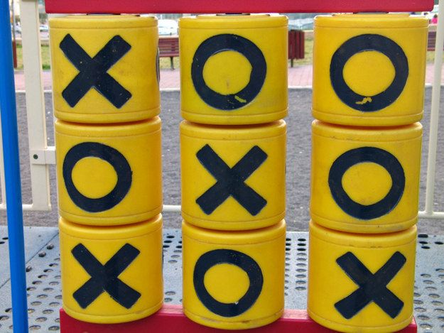 Beating your sibling at playground Tic-Tac-Toe. | 45 Things From Your '90s Childhood You Probably Forgot About