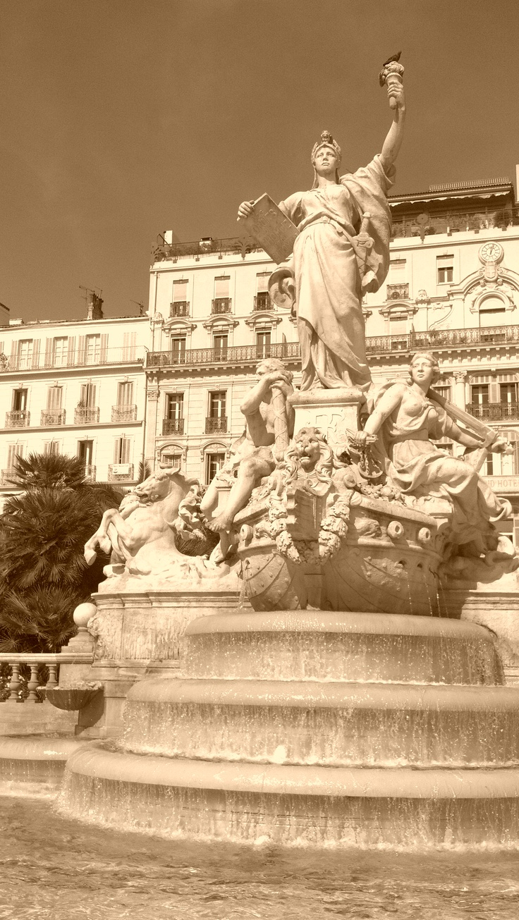 Toulon, France 2012.  That is Le Majestic hotel behind the statue.  I stayed there when my ship did a port visit during my 1986 Med Cruise