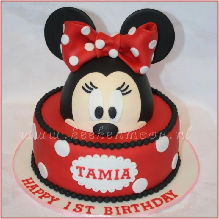 Minnie Mouse Cake By Keek Minnie Mouse Taart Cakes