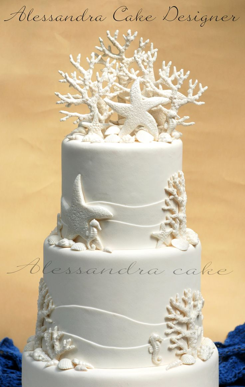 Sea  Wedding Cake .