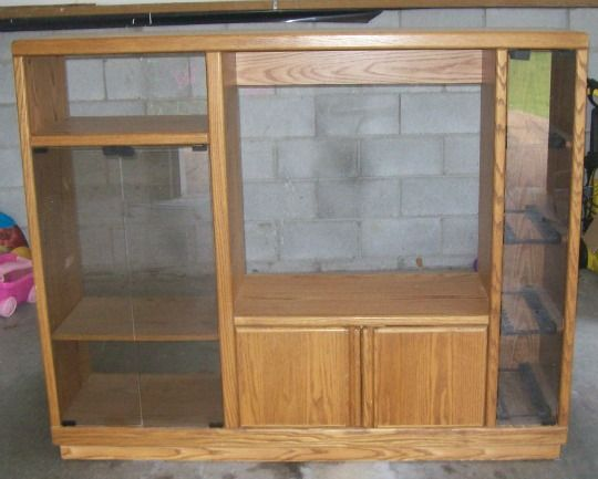 Another upcycled doll house for 18 dolls entertainment for Upcycled entertainment center