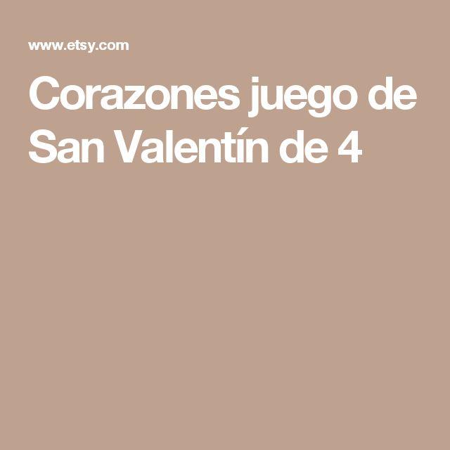 Corazones juego de San Valentín de 4