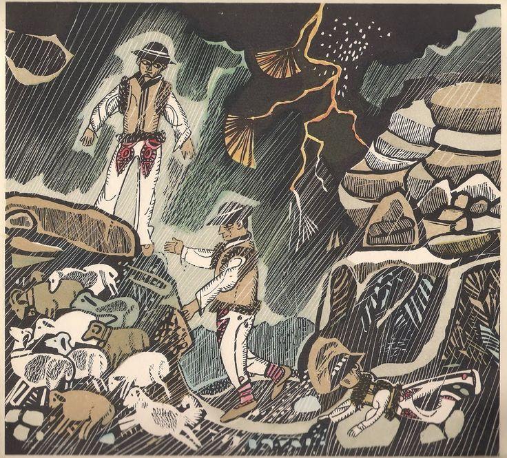 """Ilustracje:Zbigniew Rychlicki Autorki: J. Gorzechowska, M. Kaczurbina Tytuł: Tatry, moje Tatry Wydane: """"Nasza Księgarnia"""", Warszawa, Polska, 1967. Wydanie I."""