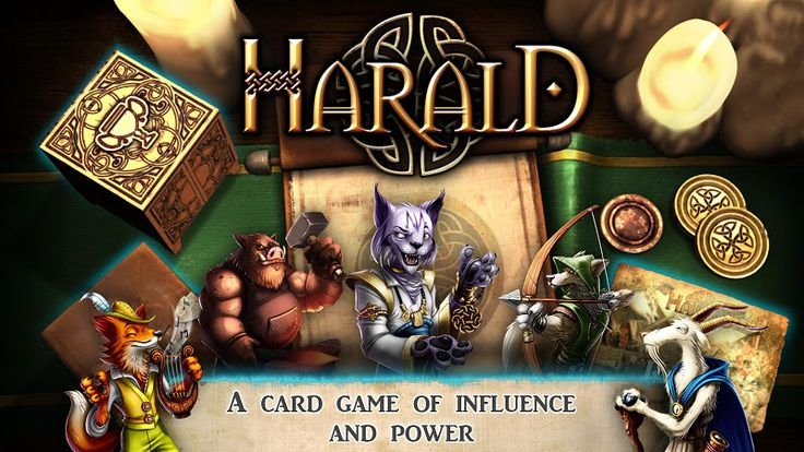"Harald: A Game of Influence v1.0   Harald: A Game of Influence v1.0Requirements:4.4 Overview:"" Terrific Game! Unique scoring conditions take a while to get used to but make the game very interesting. Might take 2-3 plays to """"get into"""" but once you get the idea it haunts you and you want to get better at it with each play. -Ricks Board Game Geek  BE THE MOST INFLUENTIAL PLAYER TO WIN THE KING'S FAVOR: Harald is a card game of influence and majority. As the head of a village each player will…"