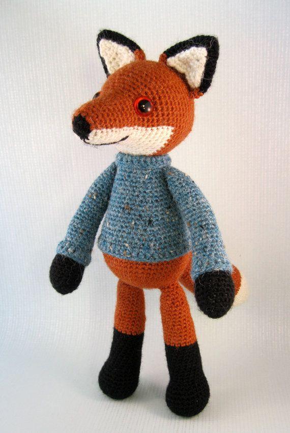 Bracken the Fox Amigurumi Pattern PDF by lucyravenscar on Etsy