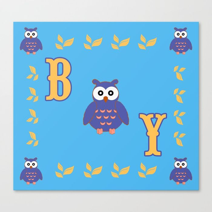 25% Off Art Prints, Tapestries and All Wall Art With Code: LETSHANG. Baby Owl Boy Canvas Print by Scar Design. #canvas #print #babycanvas #baby #canvasprint #newborn #funny #cute #owl #pink #sales #sale #discount #save #deals #kids #home #homedecor #cool #babysroom #gifts #giftideas #39 #giftsforhim #itsaboy #giftsforhim #family #home #homedecor #blue #popular #popart #onlineshopping #shopping #babyshower #homegifts #mommy #society6 #babyshowergifts #homegifts #babyroom #boy