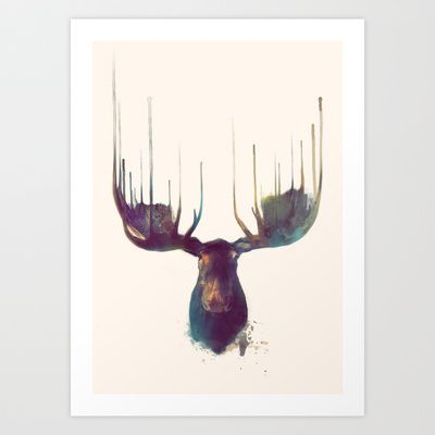 Moose Art Print by Amy Hamilton - $17.00