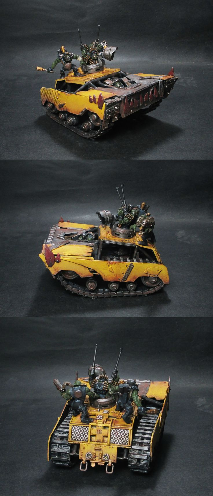Page 1 of 3 - Da mad vehicles of da Fury Road! (Gigahorse, Peacemaker, & Big - posted in MEK'S GARAGE: Been hard at work at the other Mad Max: Fury Road vehicles. Here we have Da Dakka Farmer, (a.k.a The Bullet Farmer) in his Peacemaker tank. (Peacemaka), Rictus Erectus monster truck Big Foot. (Da Foot of Gork), and Immortan Jorks Gigahorse!    It is by my hand, you will rise from the ashes of this world!       I am da scales of justice, konducta of da choir of d...