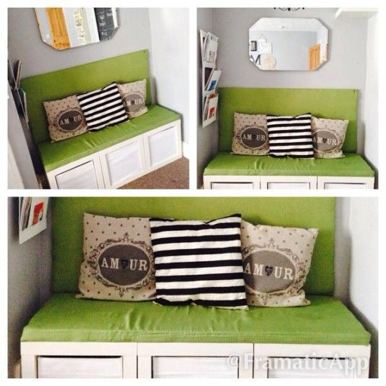 Expedit cube bench furniture redo pinterest - Etagere cube ikea expedit ...