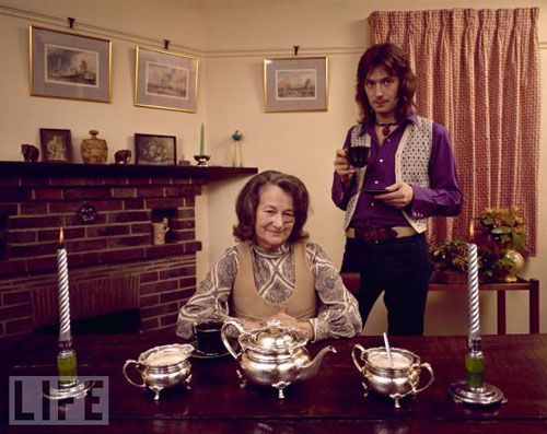 1970s Rock Stars at Home With Their Parents: Eric Clapton