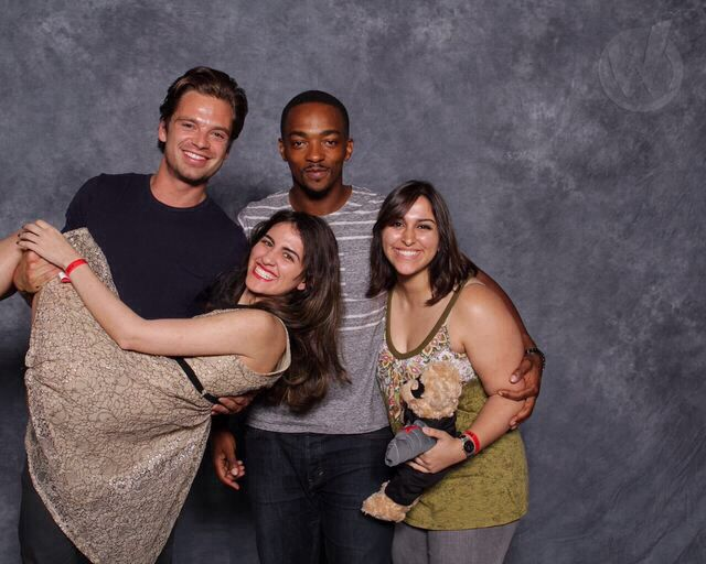 Sebastian Stan at Wizard World Philadelphia Comic Con 2014 Fan Photos  ***Let me be the first to say, I would DIE if Seb Stan held me.