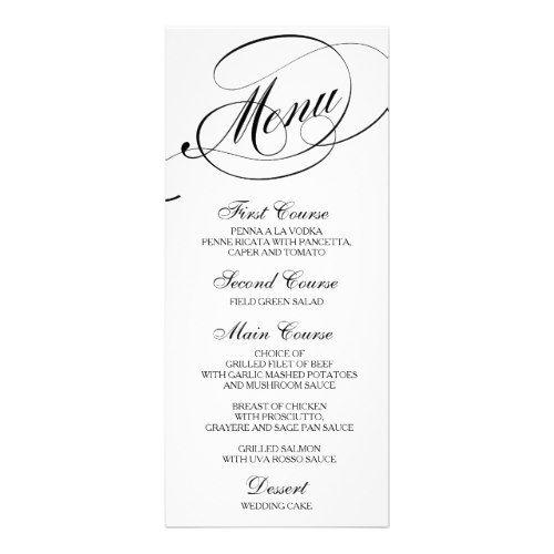 741 best Formal Wedding Invitations images on Pinterest Formal - formal dinner menu template
