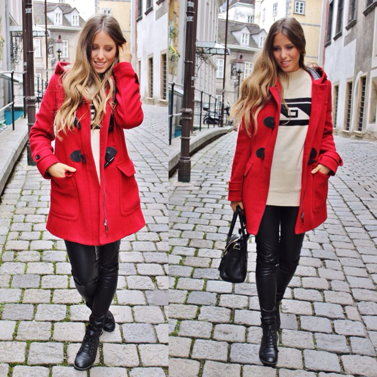 Love my red coat ❤️ #ootd #outfit