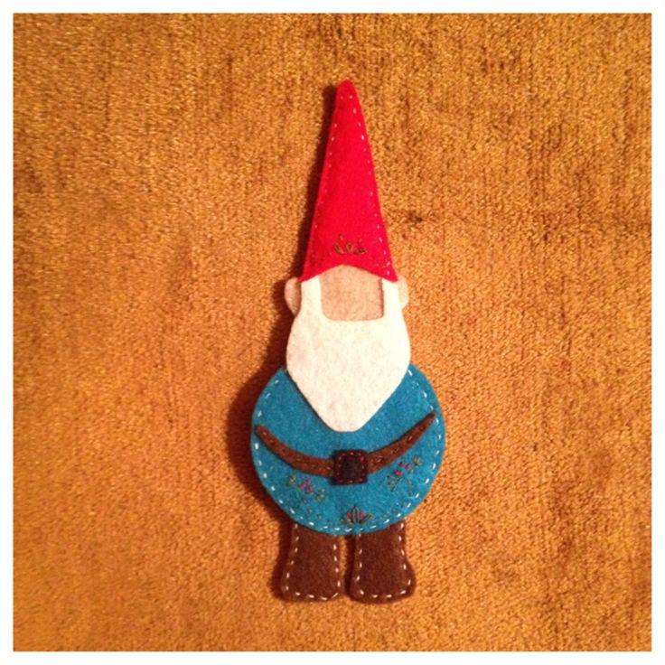 Felt gnome ornament for kids felt christmas tree