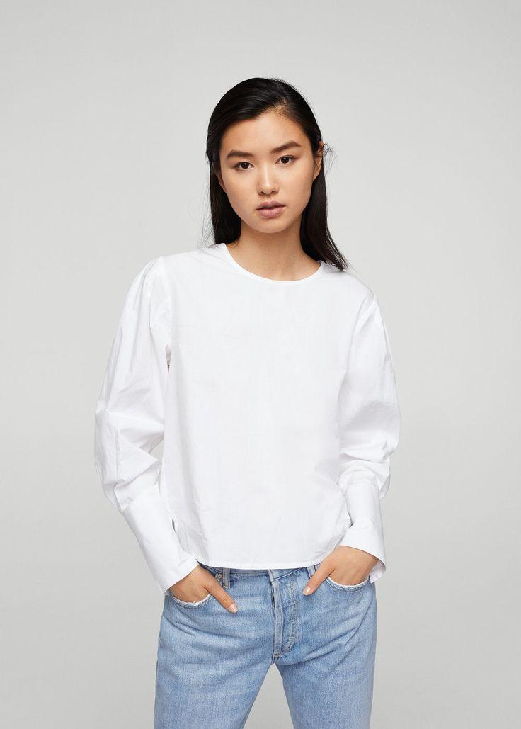 Camisa botones perla - Camisas de Mujer | MANGO España