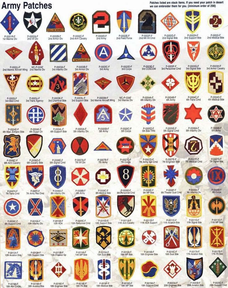 Army Patches Unit Patches Medals of America