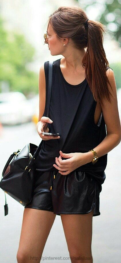 #black on black#leather Issues and Inspiration on http://fancytemple.com/blog Womens Fashion Follow this amazing boards and enjoy http://pinterest.com/ifancytemple
