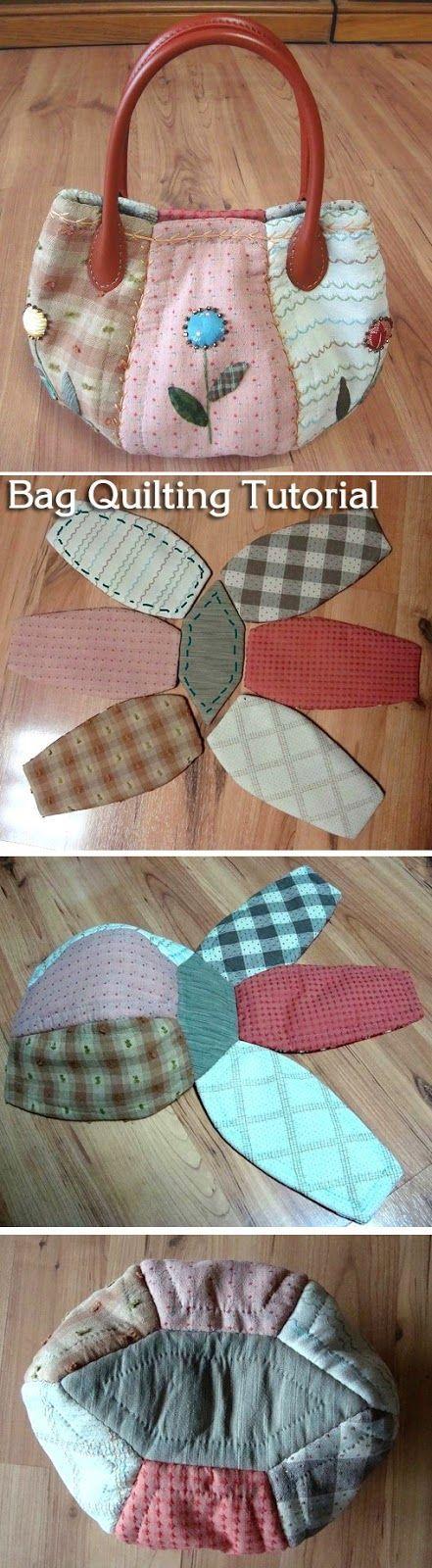 Simple and convenient bag. Patchwork, Quilting. DIY Picture Tutorial. Простая и удобная сумка. Лоскутное шитьё (пэчворк, квилтинг). http://www.handmadiya.com/2015/09/simple-bag-quilting.html: