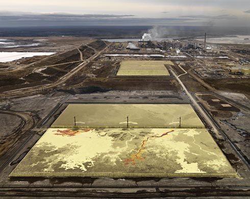 Edward Burtynsky - Oil.  Tailing Pond in Alberta Oil Sands