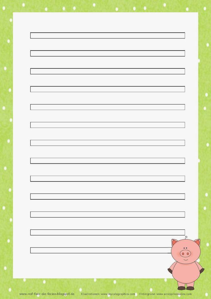Abschreibblätter Klasse 3 - Schweinchen-Kartei   Kartei, Reif für die ferien, Briefpapier