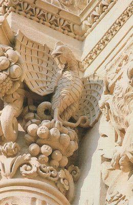 pietra leccese | Particolari Basilica Santa Croce - Lecce