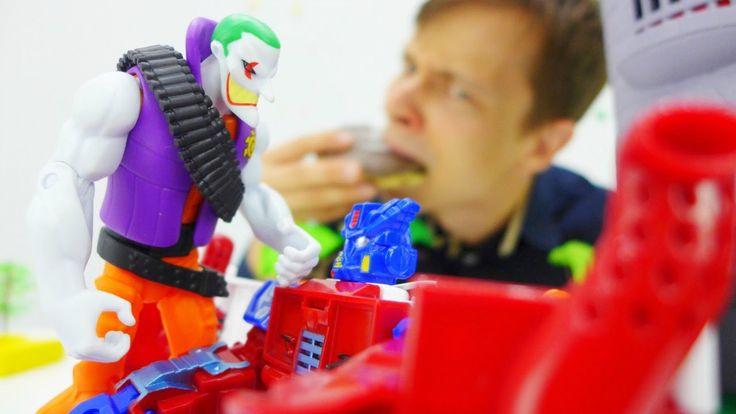 Джокер (Joker) VS Оптимус Прайм. Побег из тюрьмы! Да свершится правосуди...