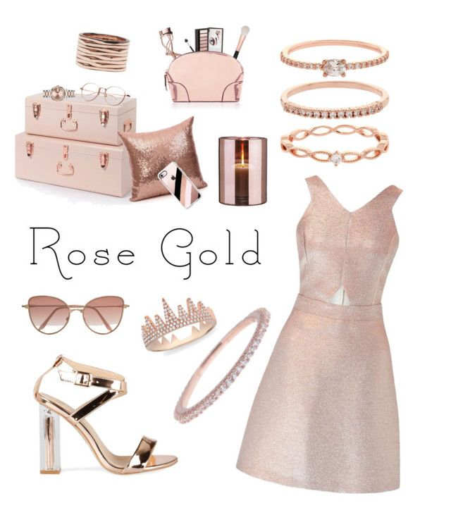 """Rose Gold Obsession"" by mayacblls on Polyvore featuring Anne Sisteron, Accessorize, Miss Selfridge, Casetify, Argento Vivo, Repossi, Rolex, Charlotte Tilbury, Morphe and Cutler and Gross"