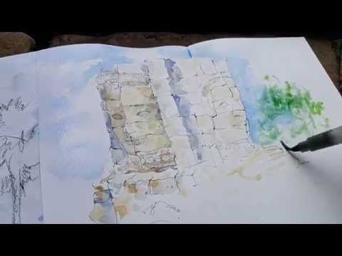 Как очень быстро нарисовать небо акварелью - YouTube