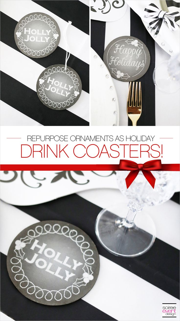Design a Stylish & Affordable Black and White Christmas Tablescape