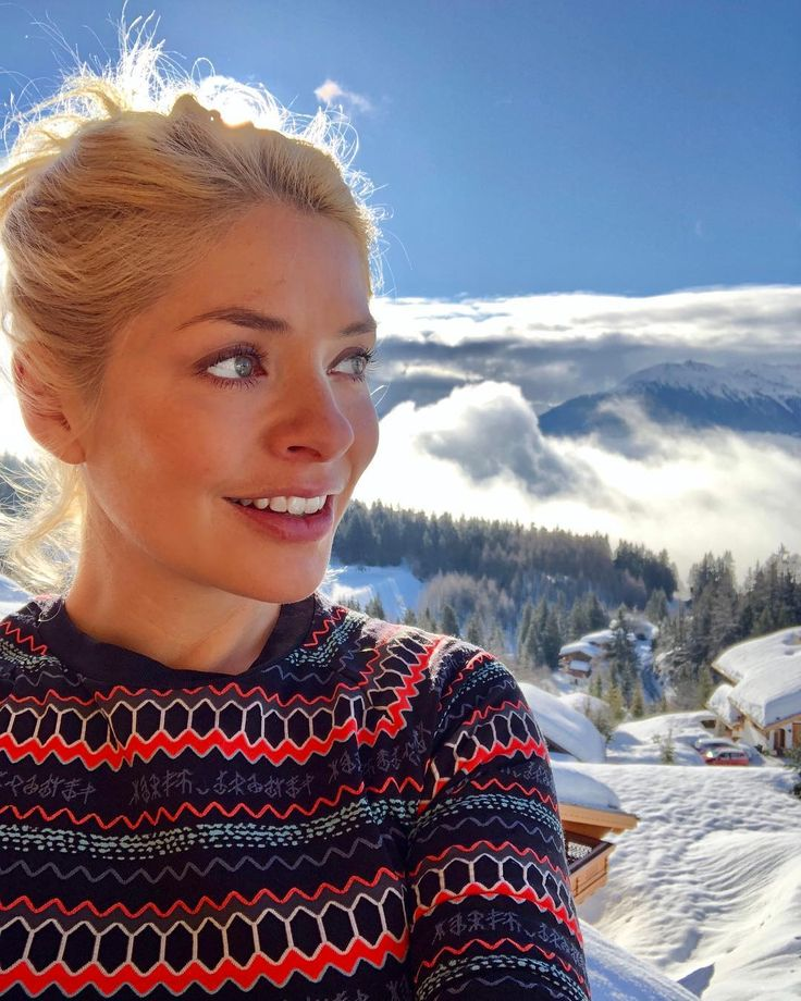 Holly Willoughby outfit fairisle jumper the alps February 2018
