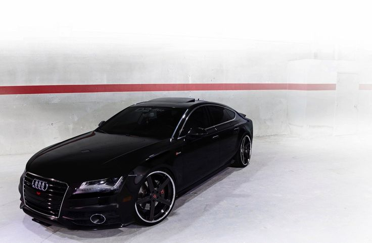 blacked out audi a7 on d2forged wheels tuned cars pinterest d audi a7. Black Bedroom Furniture Sets. Home Design Ideas
