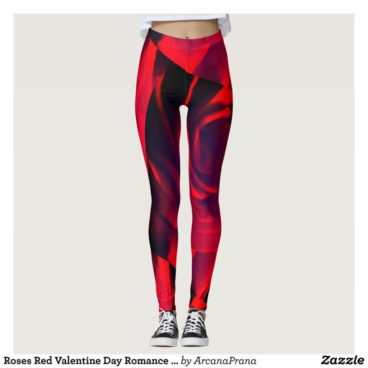 Roses Red Valentine Day Romance Love Anniversary Leggings : Beautiful #Yoga Pants - #Exercise Leggings and #Running Tights - Health and Training Inspiration - Clothing for #Fitspiration and #Fitspo - Strong Female and Female Empowerment Apparel - #Fitness and Gym Inspo - #Motivational Colorful Workout Clothes by Talented Graphic Designers
